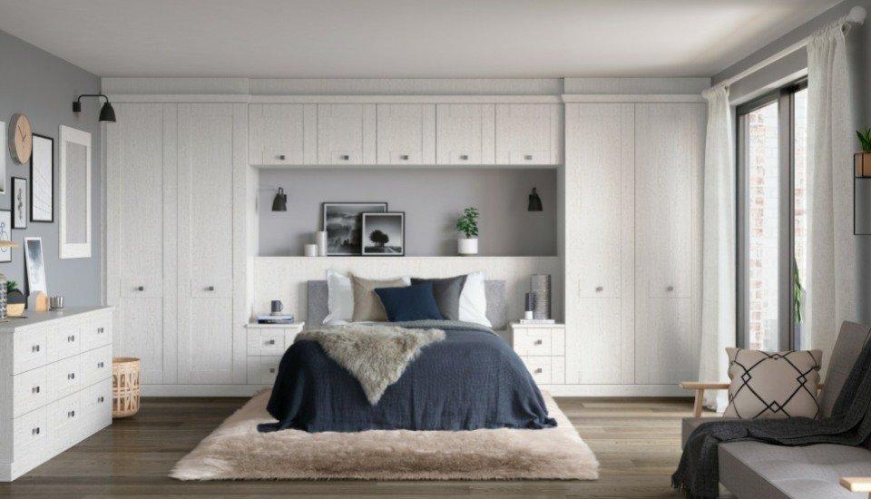 Kingsbury Shaker Fitted Bedroom Wardrobes
