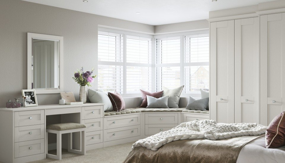 Milton Shaker Fitted Bedroom Wardrobes