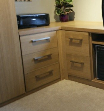 Oak Fitted Home Office